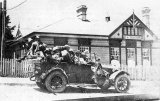 Tauranga service car - driver Pinker - at Waihi Post Office - 1919